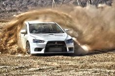 Mitsubishi Lancer Evolution X Getting Dirty. #dirtyevo
