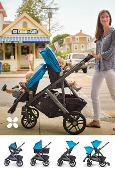 The VISTA now allows for 2 infant car seats, 2 bassinets or 2 toddler seats revolutionizing travel with twins.