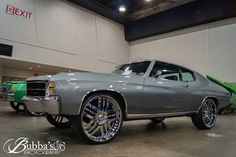 #BecauseSS  71 chevelle grey and black with asanti multi spoke wheels