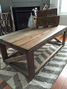 Rustic Home Decor   Ana White   DIY   Shanty 2 Chic   Rustic   Shabby Chic   Coffee Table   Living Room   Reclaimed Wood   Salvaged Wood   Living Room Ideas