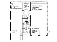 RV garage plan complete with workshop and storage loft. Plans also include two tandem bays and a workbench. 3 Car Garage Plans, Garage Plans With Loft, Garage Loft, Garage Apartment Plans, Garage Apartments, Barn Garage, Garage Ideas, Dream Garage, Building A Pole Barn