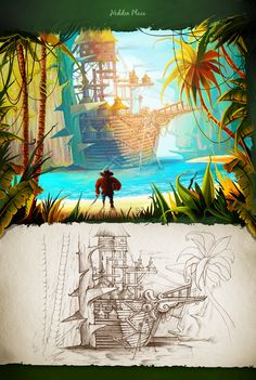 We've created a new collection of concepts and landscapes, where you can find fantastic animals, odd angle of view with combination of warm & cold colors. Hope you will feel the magic of unknown islands)