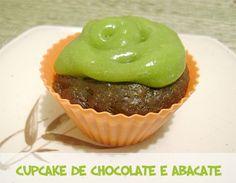 Cupcakes de chocolate e abacate #cakes #bolos #receita #vegan #veganrecipes #veganfood
