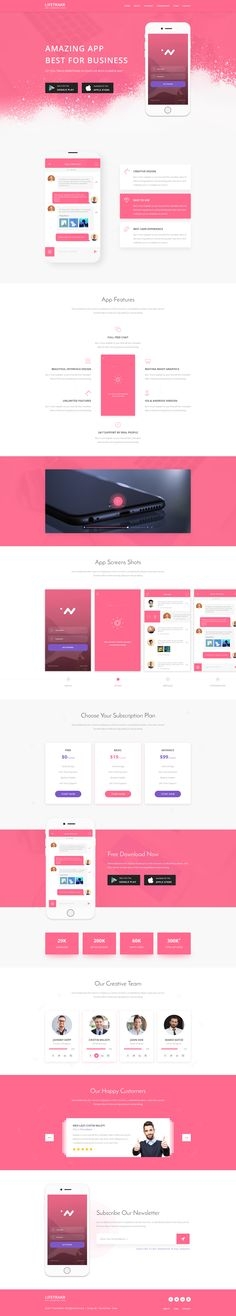 Lifetrakr - Multi-purpose App Landing Page PSD Template by themefisher1