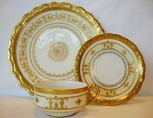 gold encrusted china plates - Google Search