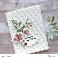 flower cards Tab links Description Intro Video Tab content Get the Bundle!): Pen Sketched Flowers Stamp & Die Bundle Coordinating die: Pen Sketched Flowers Die Set This stamp set Tarjetas Stampin Up, Stampin Up Cards, Altenew Cards, Pen Sketch, Card Sketches, Watercolor Cards, Watercolor Painting, Watercolour Flowers, Embossed Cards