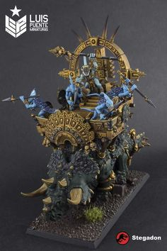 Post with 37 votes and 2796 views. Tagged with warhammer, miniatures, warhammer fantasy, age of sigmar, miniature painting; Seraphon - Stegadon & Engine of the Gods. Lizardmen Warhammer, Warhammer 40000, Game Character, Character Design, Warcraft Art, Fantasy Figures, Fantasy Miniatures, Art Station, Warhammer Fantasy