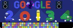 Google Doodle celebrating New Year's Eve - 31 December 2013