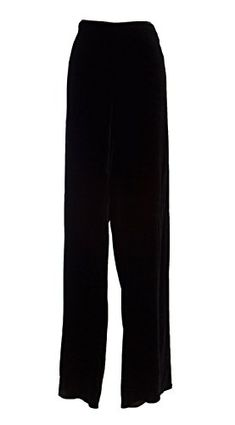 MARINA RINALDI by MaxMara Brillio Black Velour Unhemmed Dress Pants 24W  33 -- Check this awesome product by going to the link at the image.