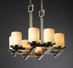 View the Justice Design Group POR-8770 Dakota 8 Light Zigzag Chandelier from the Limoges Collection at LightingDirect.com.