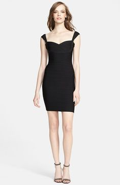 Herve Leger Sweetheart Neck Pencil Dress available at #Nordstrom