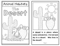 Animal Habitats: The Desert {A Flap Book Project for Grades 1-2} Includes student book and written response sheets to facilitate a close reading of the text. #habitats #science #desert $