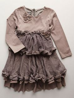 Isobella & Chloe Evelyn Little Girls Dress. Dusty plum jersey dress. Little girls sizes 4-6.