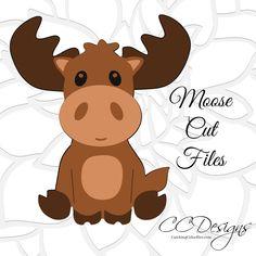 Cute Moose SVG Cut File, Woodland Theme Baby Shower and Nursery Decor, Woodland animals SVG for Cricut, Woodland Theme, Woodland Nursery, Moose Nursery, Woodland Creatures, Woodland Animals, Woodland Critters, Shower Bebe, Cricut, Svg Cuts