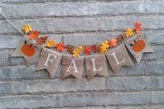 FALL Burlap banner Fall banner fall decor by Sunshineatheart Thanksgiving Photos, Thanksgiving Banner, Holiday Banner, Thanksgiving Crafts, Thanksgiving Decorations, Fall Crafts, Fall Burlap Banner, Diy Banner, Burlap Banners