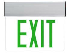 Edge Lit Exit Sign - Green LED http://www.emergencylights.net/green-edge-lit-exit-sign/