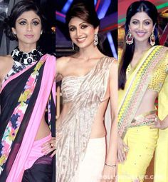 Which #ShilpaShetty #saree look do you like the most?  #Bollywood #Indian #Sari #Designer #Fashion