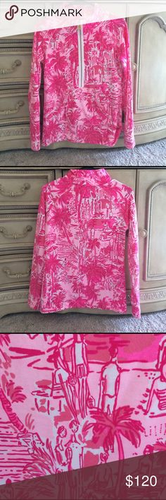 Lilly Pulitzer rule breaks xs poppver Vguc with mild wash wear. Only washed a few times. Still super bright and gorgeous. (I paid above retail for this time ) Lilly Pulitzer Jackets & Coats