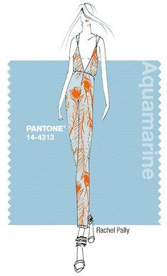 Rachel Pally in Pantone Aquamarine - SPRING 2015 PANTONE's #FashionColorReport