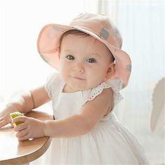 Baby Hat Double Side Vintage Linen Strap Beanie Props Cap Bonnet Kids 0-36 Month