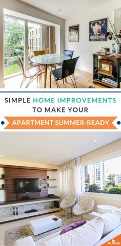 Get your apartment summer-ready by undertaking some simple home improvements to enhance your living space and make it more energy efficient! [Apartment Decor, Storage Ideas For Apartments, Decor Ideas] #ApartmentDecorIdeas #Summer #SummerDecor
