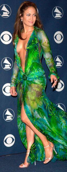 Jennifer Lopez dress designer Donatella Versace 2000