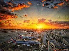 We're going to Miami. Welcome to Miami.  -- #Miami #MIA #WelcomeToMiami #Sunset #MiamiSunset #InstaSunset #AmericanAirlines #AmericanAir #Avgeek #InstaPlane #InstaAviaton #Aviation by americanair via Instagram w/ifttt