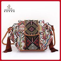 e2ccc1415f48 Bohemian Crossbody Bag - Angedanlia Woman Handmade Bag Hippie Boho Purse  3371 (Coffee) -. Crossbody BagsLeather ...