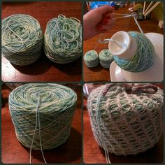 Ravelry: Ball Sack pattern by Jennifer Sugarman - Winding for two socks at a time