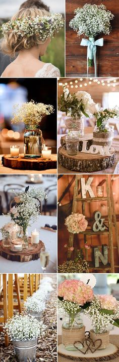 Fall Gypsophila Baby's Breath for rustic Barn Weddings