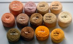 Dye your yarn with food and you get these amazing colors