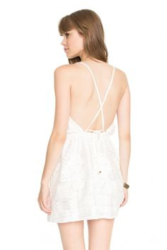 vestido barrado bordado - Vestidos | Dress to