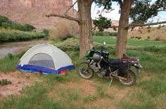 Camping with my KLR650