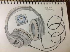 headphone and MP3