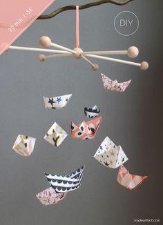 DIY - Móvil de barquitos de papel | Made with lof | Bloglovin