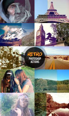 Free Retro Style Photo Effect Photoshop Actions #photography #photoshopactions #tutorials #digitalart #photoeffects