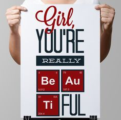Creative poster-Funny Chemical by TimelessMemoryPrints on Etsy