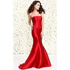 Shail K 4031 Special Occasions Long Strapless Sleeveless (£300) ❤ liked on Polyvore featuring dresses, gowns, burgundy, formal dresses, burgundy prom dresses, evening gowns, burgundy evening gown, long formal gowns and mermaid evening dress