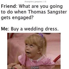 So me No repining any of my Thomas-Brodie Sangster