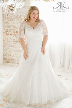 Plus Size Wedding Gown from Glamour Plus Collection  Sizes: 12-44