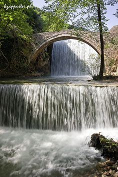 Palaiokaria The stone bridge Palaiokarias between Portal and Stournareika in Trikala. 16th century.