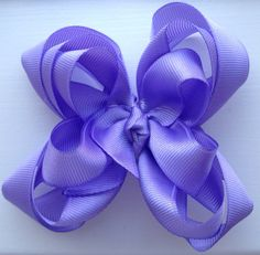 Lavender Stacked Boutique Bow by TheOneStopBowShop on Etsy, $6.00
