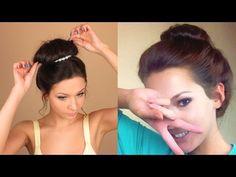 Видеоурок красоты: быстрый пучок на влажных волосах - YouTube