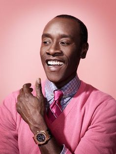 Don Cheadle by Emily Shur  HE can pull ths spring pastel combo off so WELL! ~js  emilyshur.com