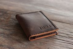This listing is for a PERSONALIZED wallet. If you want this wallet without the personalization, please go to the regular listing here: