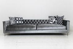 Hollywood Sofa in Trend Slate Velvet | ModShop