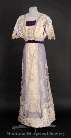 Costume and Fashion History Edwardian Clothing, Edwardian Dress, Antique Clothing, Edwardian Era, Victorian Dresses, 1900s Fashion, Edwardian Fashion, Vintage Fashion, Fashion Goth
