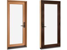 Partner the sleek styling of the Marvin Contemporary Door with a bright silver- or copper-clad exterior for a crisp, modern new look.