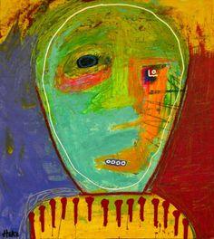 Man Ray Hoke Outsider Abstract Art Brut Funk Original Grafitti Painting | eBay