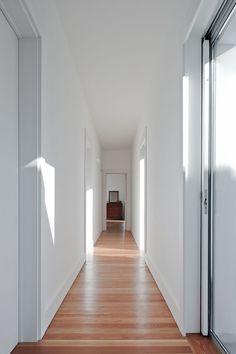 Love the clean lines of the baseboards & door trim.